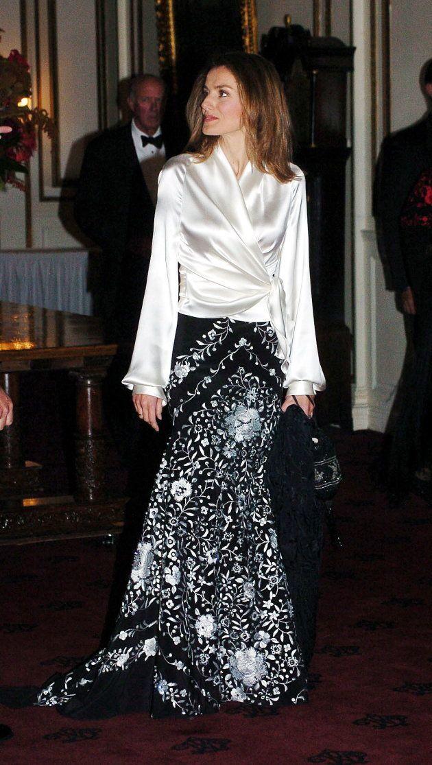 Letizia, entonces princesa de Asturias, en una gala en Nueva York el 7 de octubre de