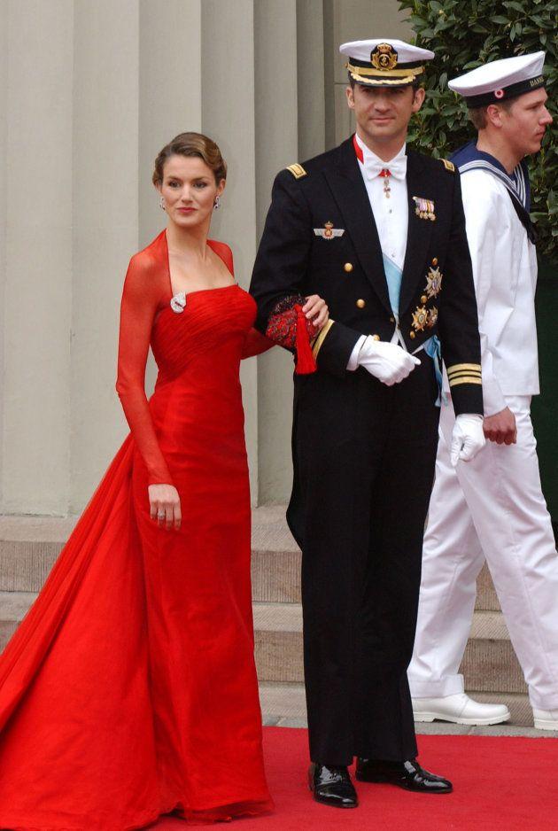 Felipe y Letizia en la boda de Mary y Federico de Dinamarca, en