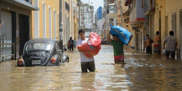 Imagen de la recientes inundaciones en Piura,
