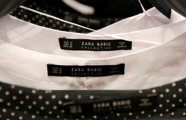 Camisas en una tienda de Zara en