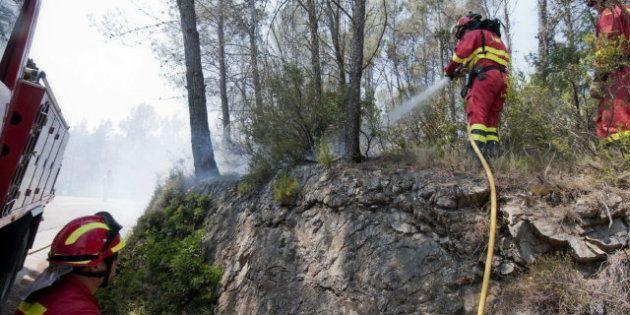 Incendio en Girona: el foco entre Terrades y Boadella,