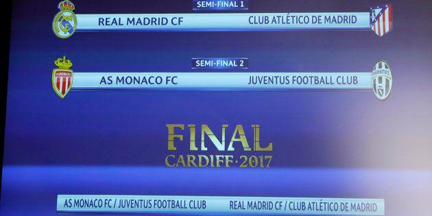Real Madrid-Atlético y Juventus-Mónaco, semifinales de la