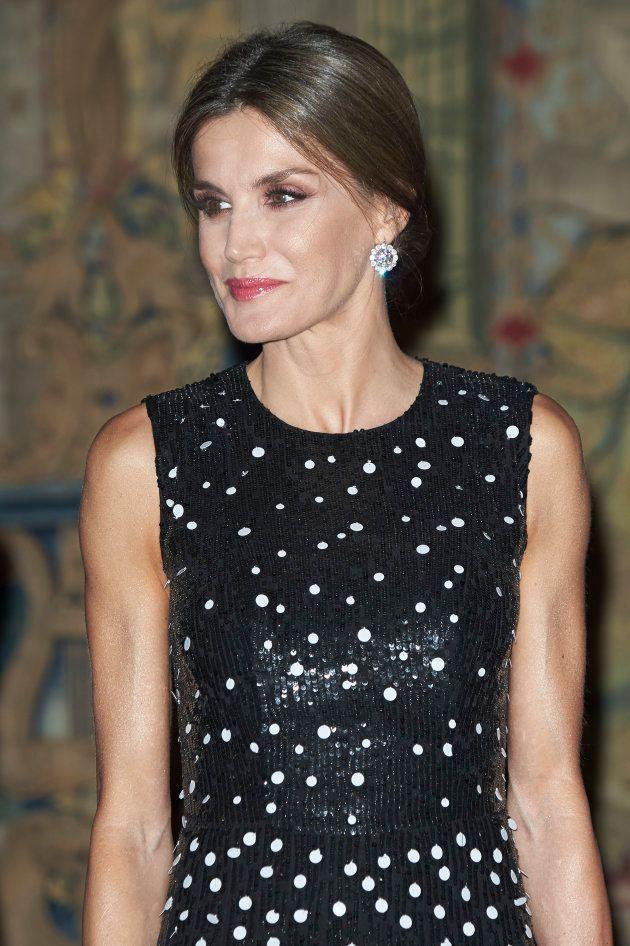 La reina Letizia en el palacio de El