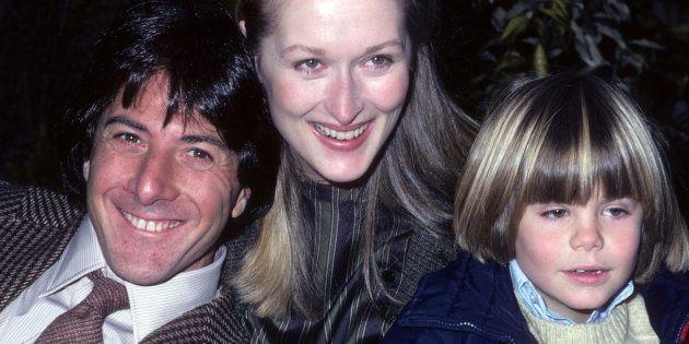 Dustin Hoffman, Meryl Streep y Justin Henry, en la presentación de 'Kramer contra