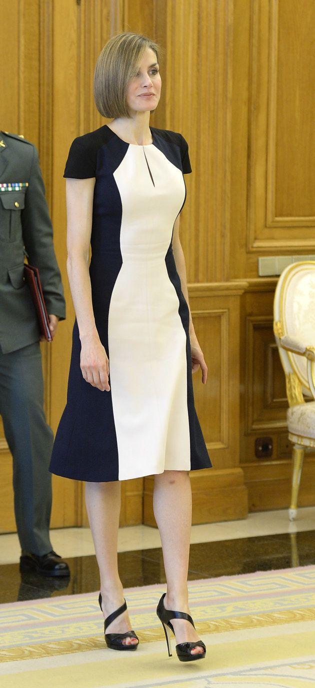 La reina Letizia en una audiencia en la Zarzuela el 18 de mayo de