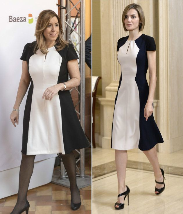 Susana Díaz lleva el mismo vestido de Carolina Herrera que la reina