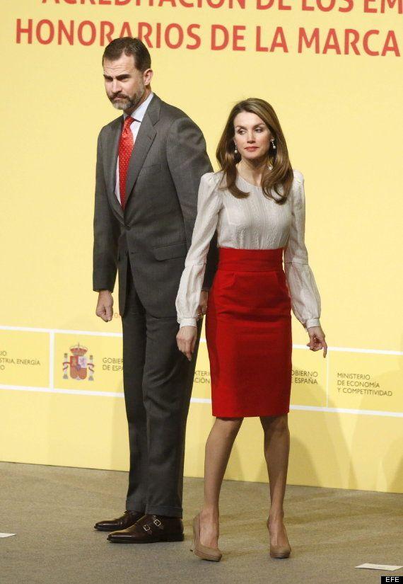 Letizia Marca España 2013: se viste de española para recibir a Banderas, Alonso y José Andrés