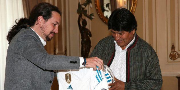 La razón por la que este regalo de Iglesias a Evo Morales está generando
