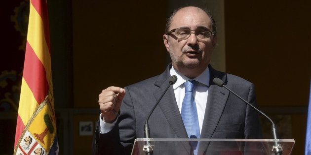 El presidente de Aragón, Javier