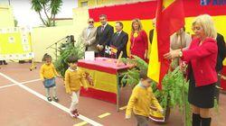 El vídeo de niños jurando bandera en Ceuta que indigna en