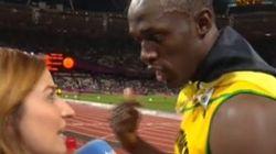 Bolt interrumpe una entrevista con TVE para escuchar un