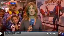 El tremendo susto a una reportera de TVE en pleno