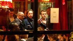 La fiesta postelectoral abre a Macron su primera