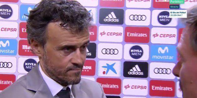 Paco González, tras la pregunta de un reportero a Luis Enrique sobre si Messi fue