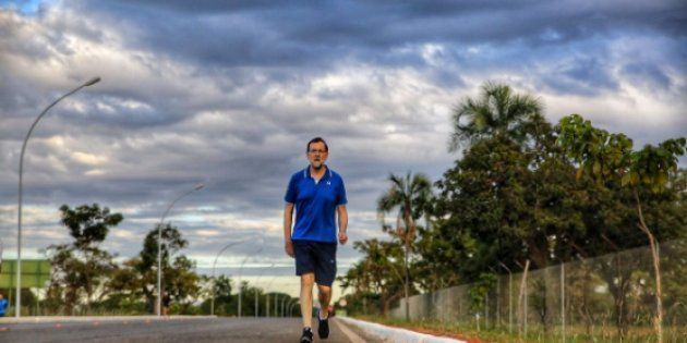 Rajoy, haciendo ejercicio en