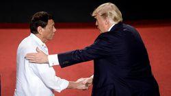 Trump y Duterte, que asegura haber matado a puñaladas a un hombre, 'colegas' en