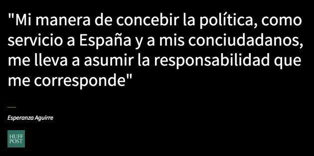 La dimisión de Esperanza Aguirre, en once