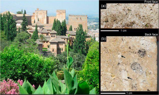 La Alhambra de Granada, monumento declarado Patrimonio Mundial de la Humanidad, y ensayo de envejecimiento...