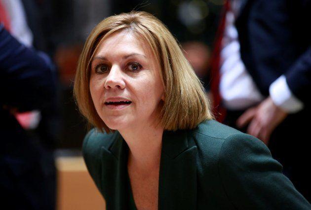 La ministra de Defensa, María Dolores de Cospedal, hoy en