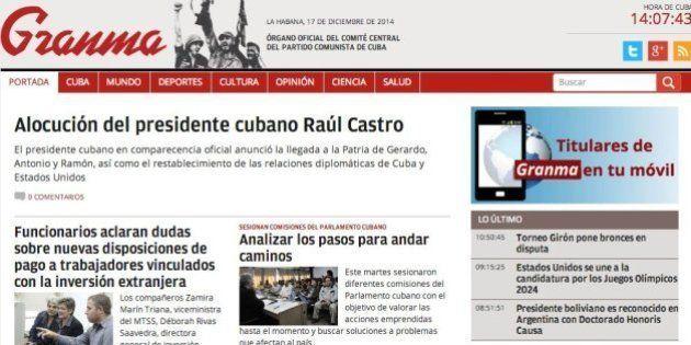 El restablecimiento de las relaciones entre Cuba y EEUU en las portadas