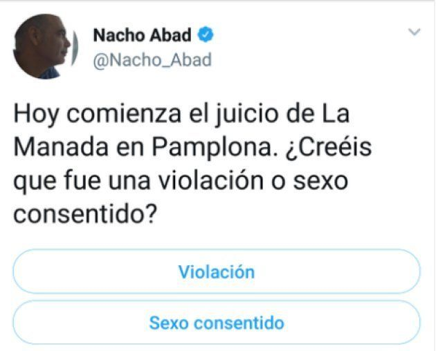 Críticas a Nacho Abad por lo que hizo durante el juicio a 'La