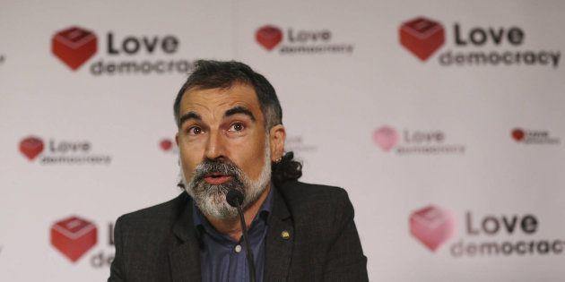 Jordi Cuixart, presidente de Òmnium Cultural, en una imagen de