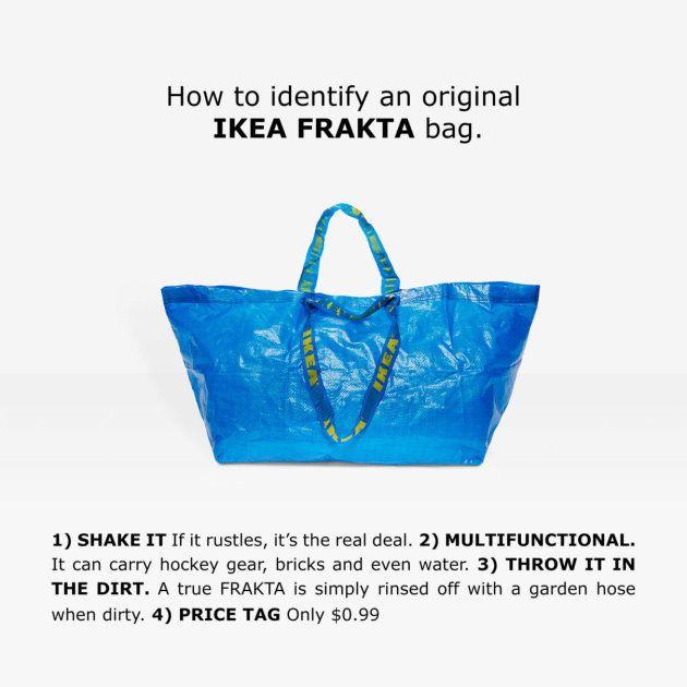 Ikea da las claves para diferenciar su bolsa Frakta de la 'copia' de