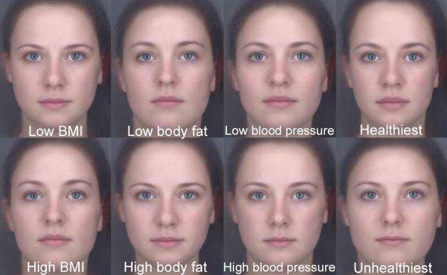 Los investigadores pidieron a los participantes que modificaran las caras para que parecieran saludables...