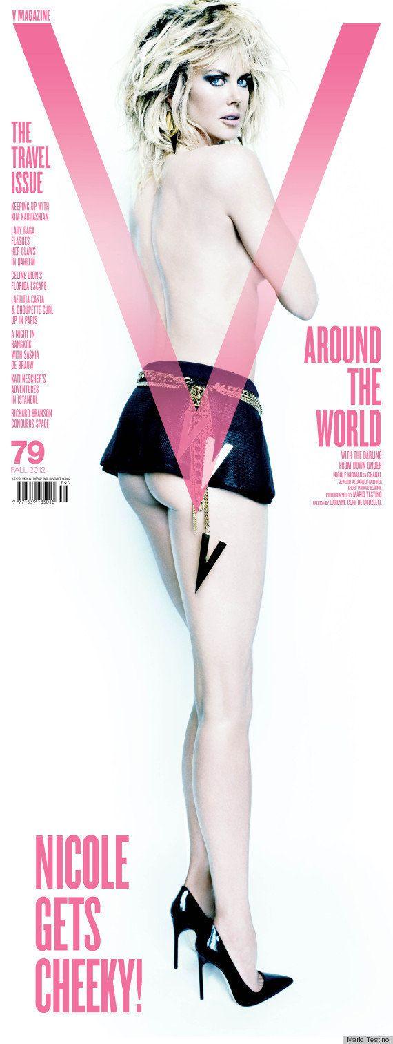 Casi desnuda, Nicole Kidman protagoniza la revista 'V Magazine'