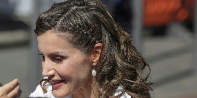 La reina Letizia, durante su visita oficial en Tenerife el 25 de abril de