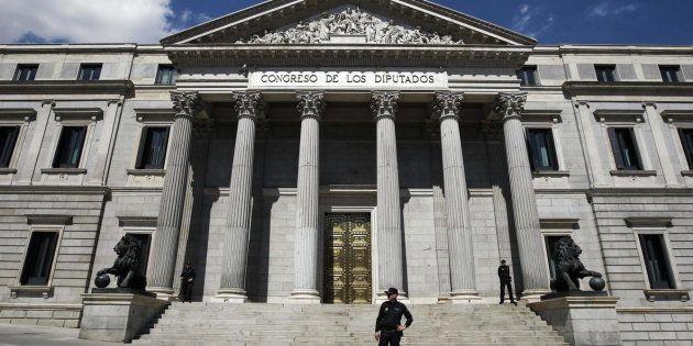 Fachada del Congreso de los Diputados, en una imagen de