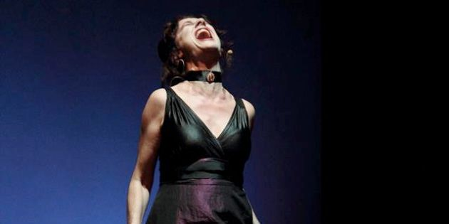 La actriz Velilla Valbuena en el evento 'Dirige, mentorías a escena' el 11 de marzo de