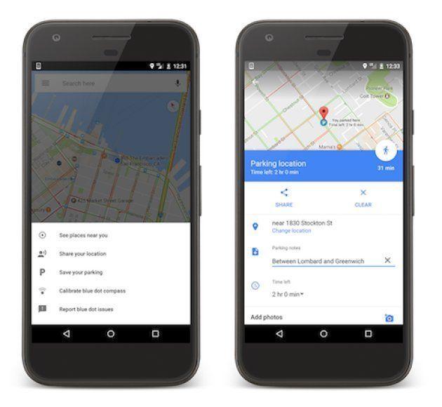 Google Maps guarda dónde has aparcado: así