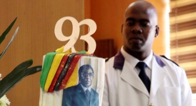 La tarta del cumpleaños de Mugabe de este