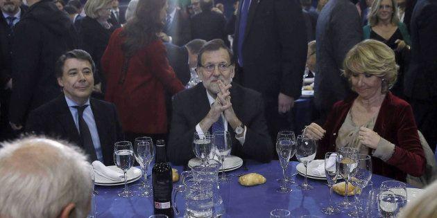 El expresidente de la Comunidad de Madrid, Ignacio González, el presidente del gobierno, Mariano Rajoy...