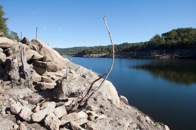 El embalse de Eiras, uno de los que abastece de agua a la ciudad de Vigo, fotografiado el pasado