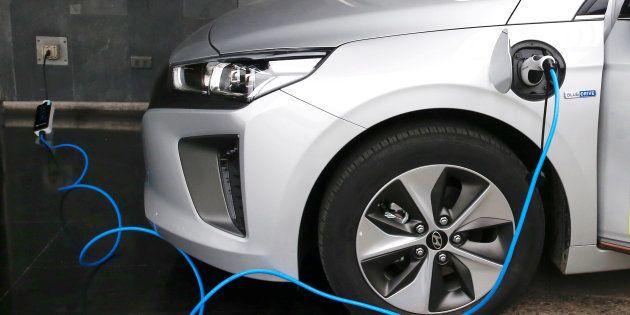 Un coche eléctrico de Hyundai. REUTERS/Rodrigo