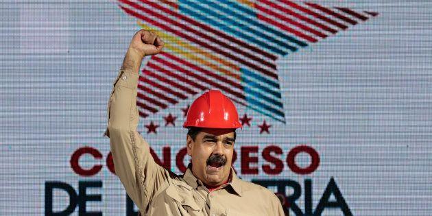 Nicolás Maduro se dirige a sus seguidores en Caracas, durante un mitin, el pasado 25 de