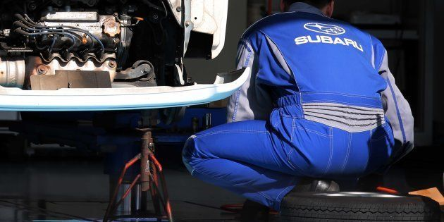 Test de accidentes de un coche de Subaru en Tokio, Japón. Hitoshi Yamada/NurPhoto via Getty