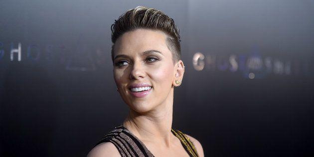 Scarlett Johansson, en el estreno de 'Ghost in the shell' en Nueva York el 29 de marzo de