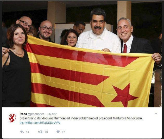 Foto del Twitter de Itaca que muestra al presidente de Venezuela con una