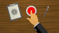 Trump tiene un botón de emergencia en su escritorio... pero no es para lo que