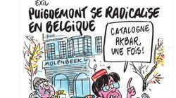 'Charlie Hebdo' se burla de Puigdemont y le presenta como un