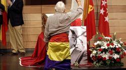 Último adiós a Carrillo en Madrid en la sede de CCOO (VÍDEOS,