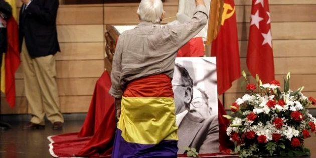 Muerte Santiago Carrillo: Último adiós en Madrid en la sede de CCOO (VÍDEOS,