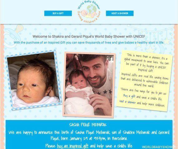 Shakira y Piqué enseñan la carita de su hijo Sasha