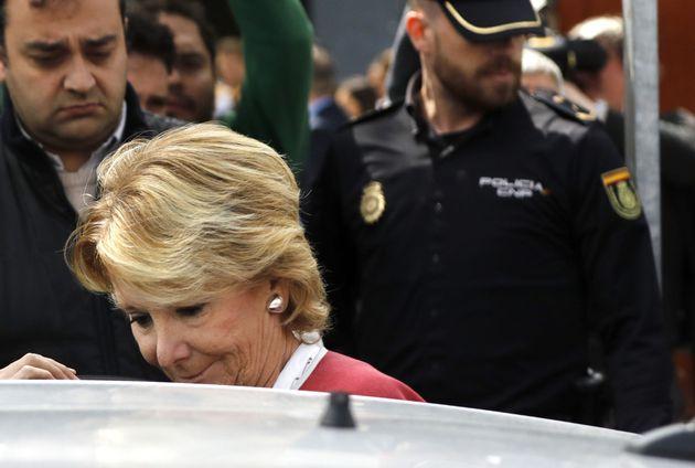 GRA141. SAN FERNANDO DE HENARES (MADRID), 20/04/2017.- La expresidenta madrile�a Esperanza Aguirre...