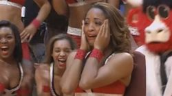 Esta 'cheerleader' se lleva el sorpresón de su vida