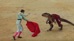 La campaña antitaurina con dinosaurios que se ha vuelto