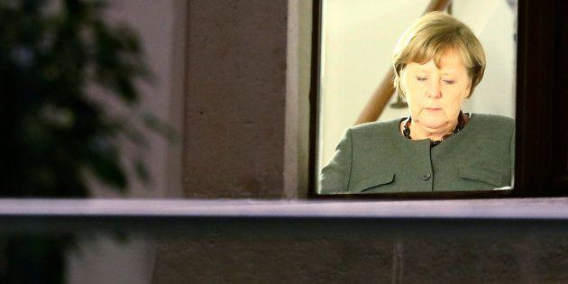 La canciller alemana, Angela Merkel, durante las